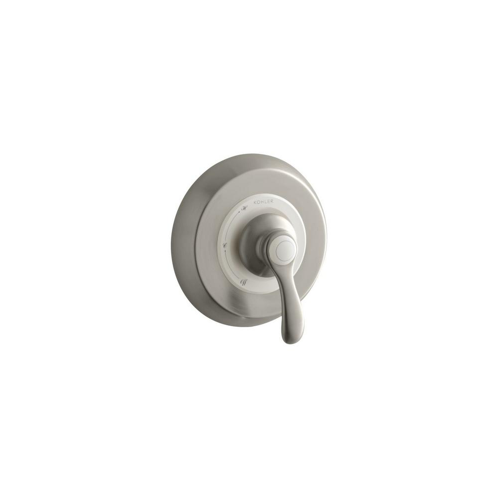 KOHLER Fairfax 1-Handle Wall-Mount Tub and Shower Faucet Trim Kit in Vibrant Brushed Nickel (Valve Not Included)