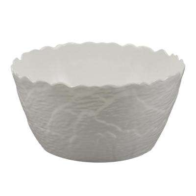 Martello 12.5 in. White Artichoke Serve Bowl