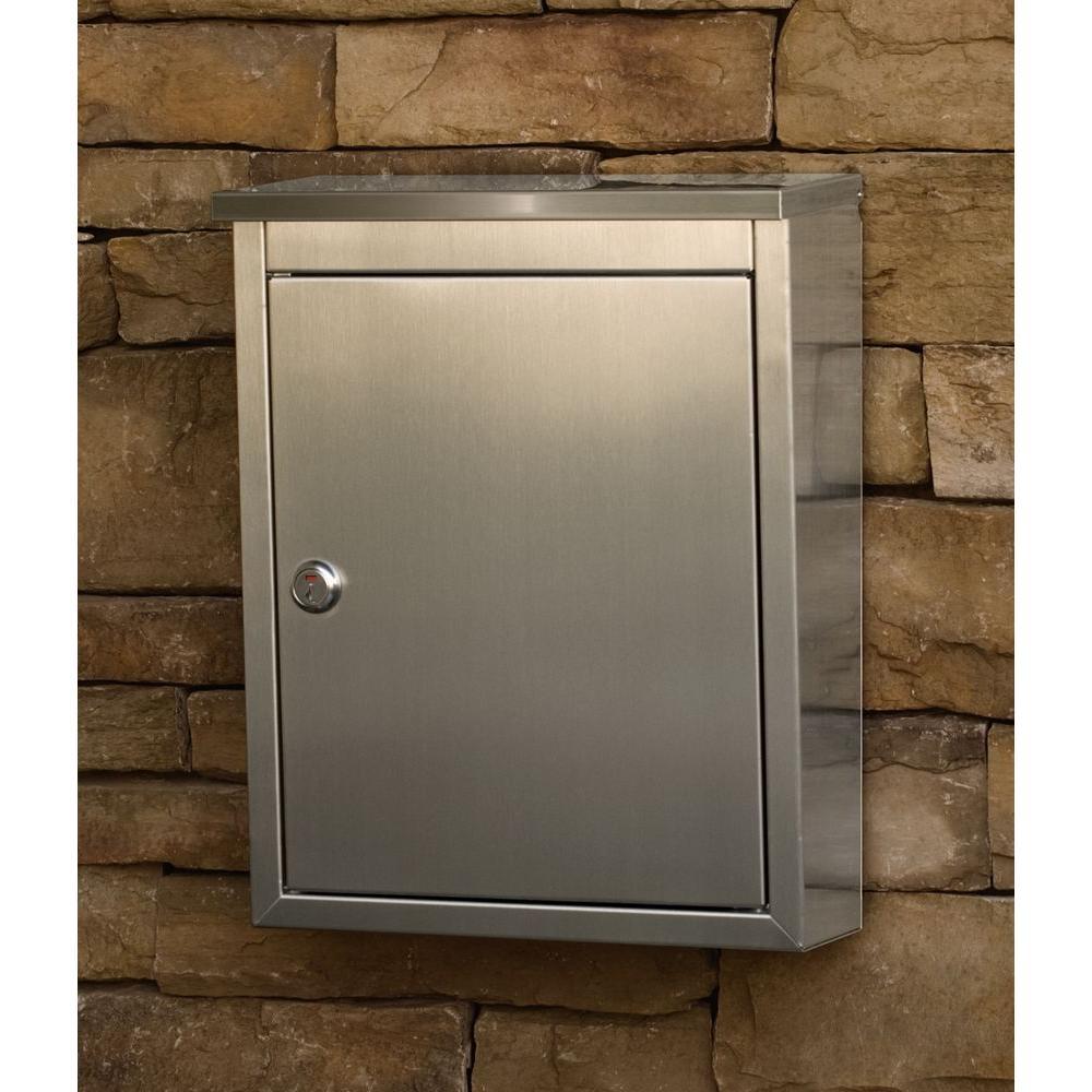 Regent Wall-Mount Locking Mailbox Oversize Mail Slot Wide Deep Storage