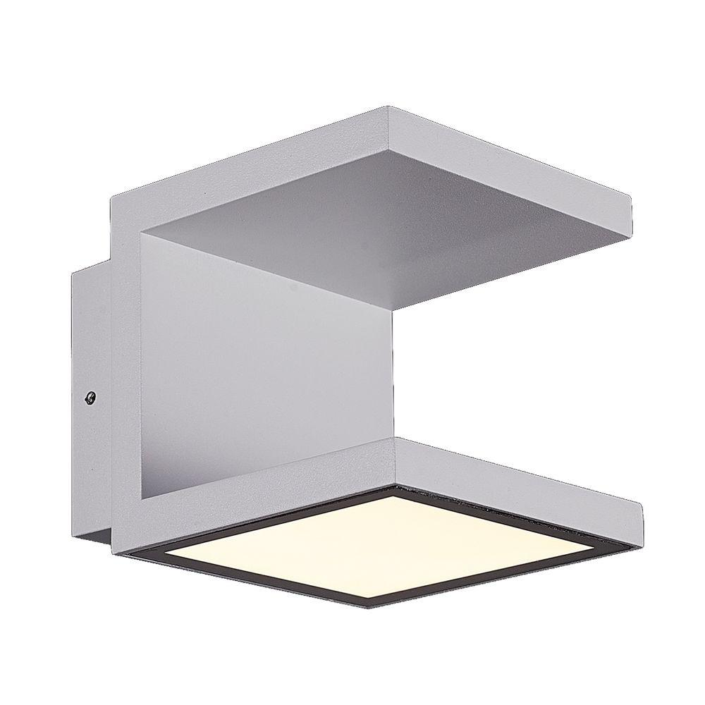Rail Collection 2-Light Marine Grey Outdoor LED Wall Mount