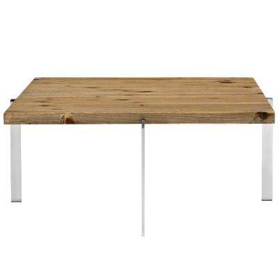 Brown Diverge Wood Coffee Table