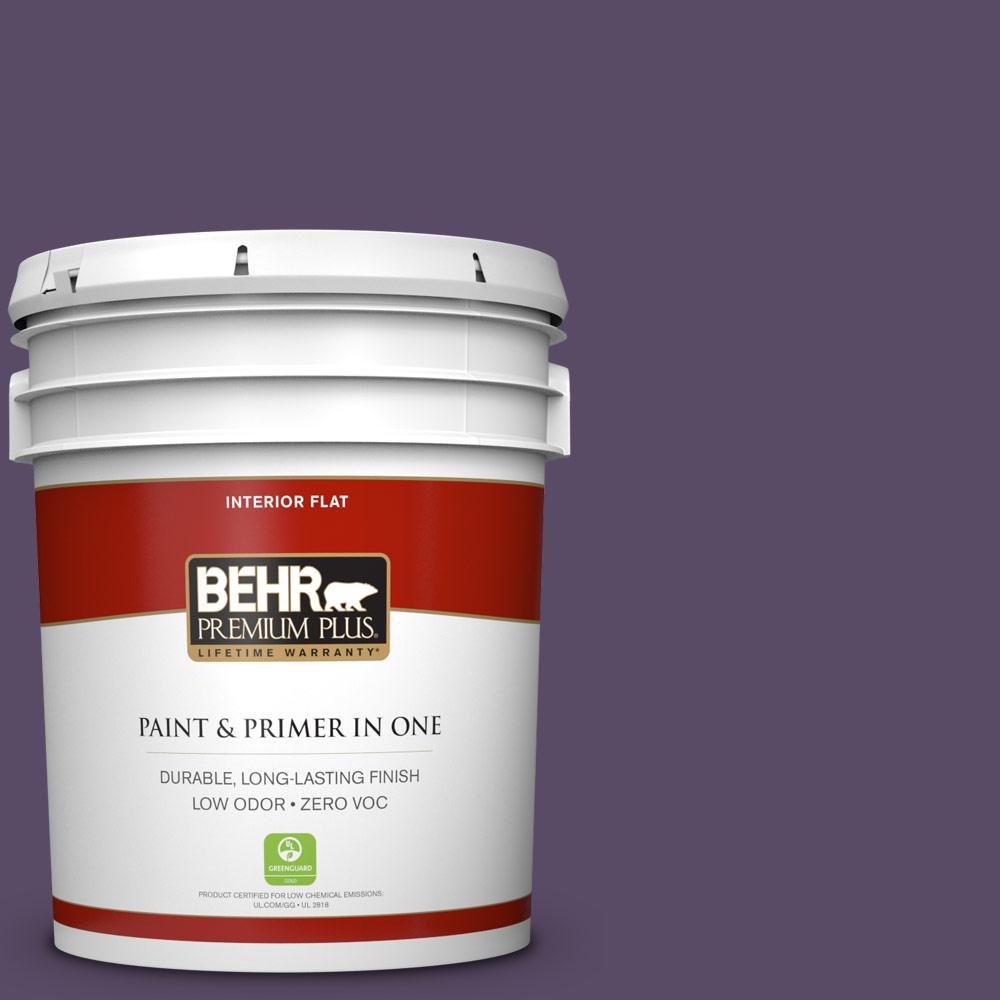5 gal. #M560-7 Muscat Grape Zero VOC Flat Interior Paint