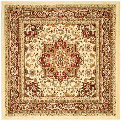 Lyndhurst Ivory Red 10 Ft X Square Area Rug