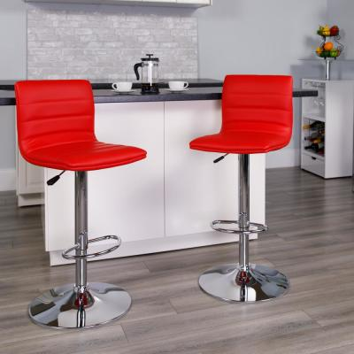 Superb Flash Furniture Adjustable Height Red Cushioned Bar Stool Unemploymentrelief Wooden Chair Designs For Living Room Unemploymentrelieforg