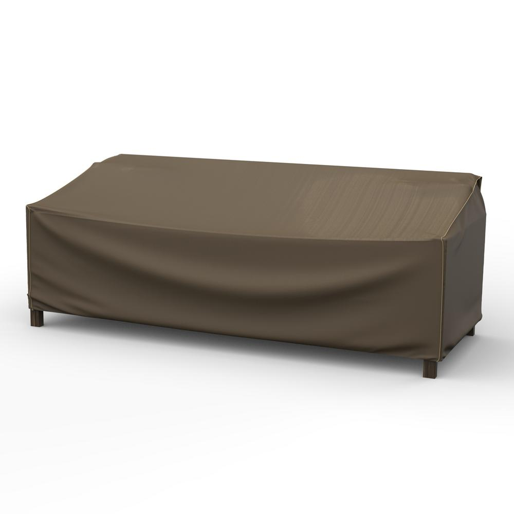 Budge Rust-Oleum NeverWet Hillside Extra-Large Black and Tan Patio Sofa  Cover