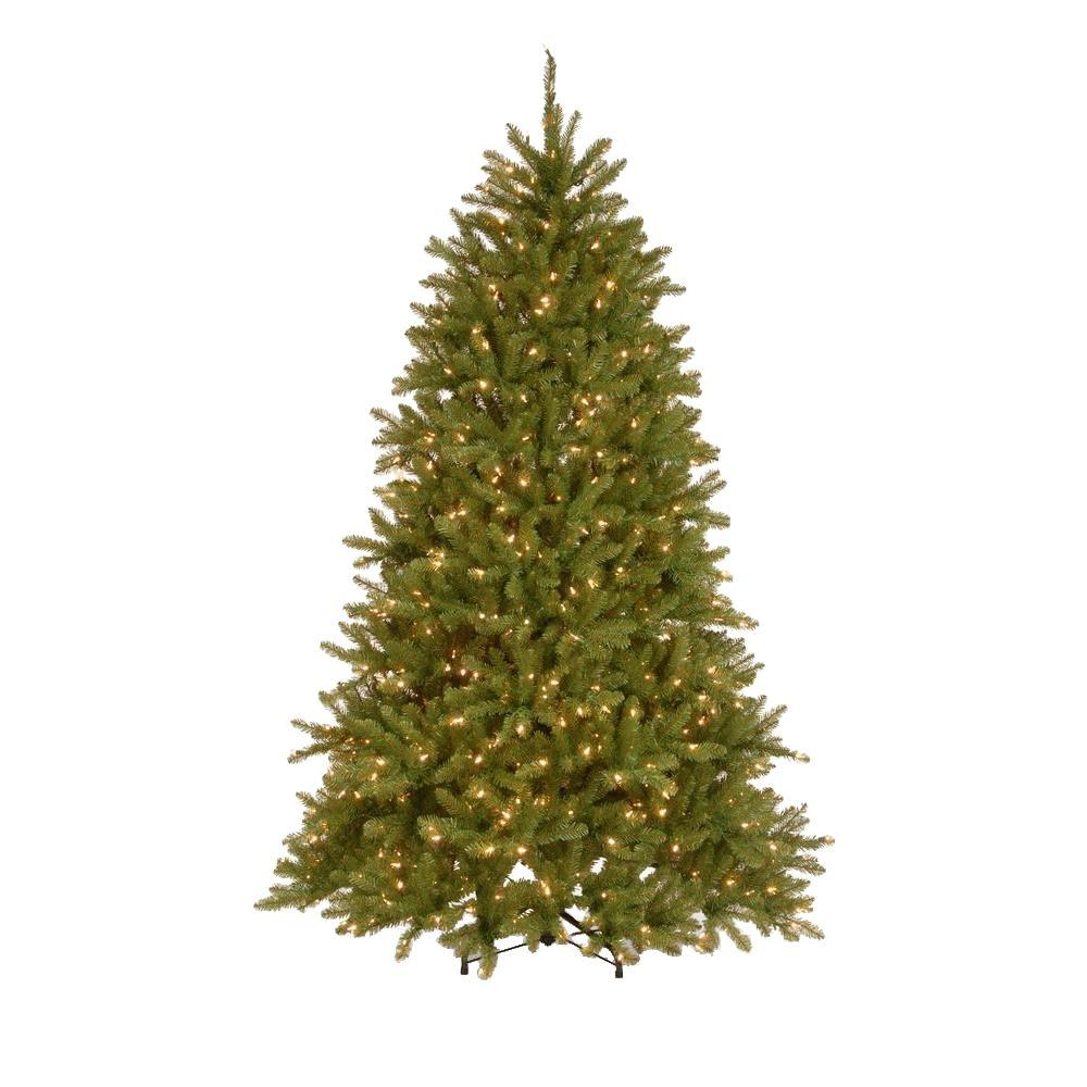 dunhill fir hinged artificial christmas tree with 700 low voltage dual soft