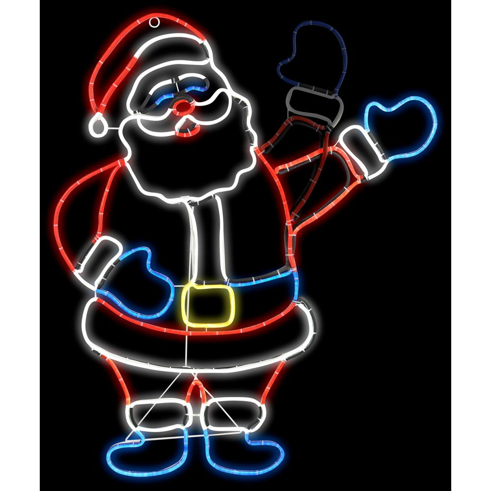 Gemmy 2 Ft W X 3 Ft H Animated Light Glo Inflatable Santa 19831x