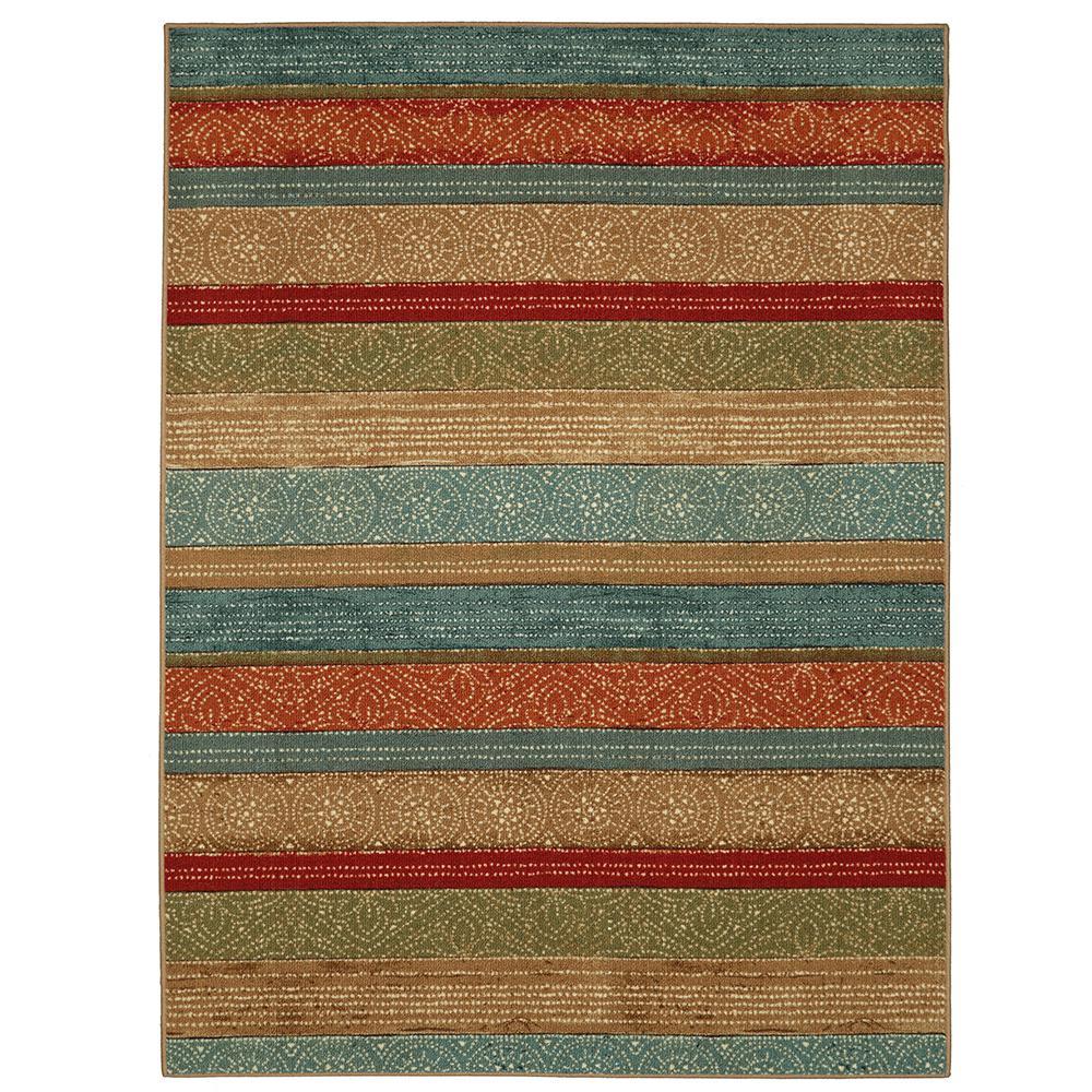 Samsun Batik Stripe Multi 7 ft. 6in. x 10 ft. Area Rug