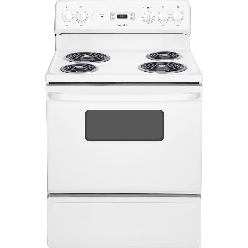 Hotpoint 5 0 Cu Ft Electric Range In White Rb526dhww