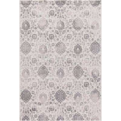 Lara Soft Damask Ivory 8 ft. x 11 ft. Area Rug