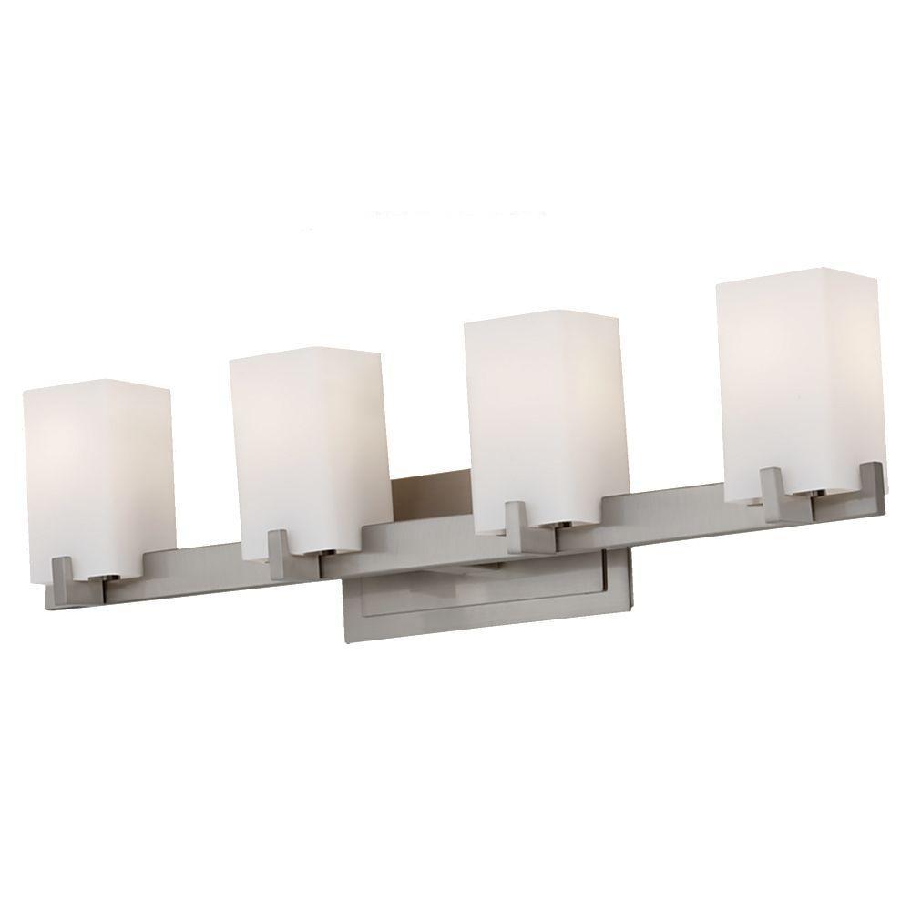 Riva 4-Light Brushed Steel Vanity Light