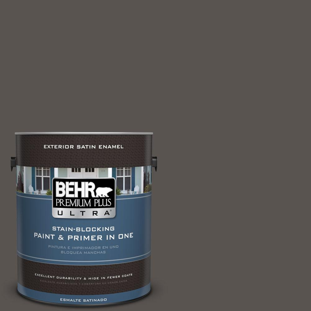 BEHR Premium Plus Ultra 1-gal. #BXC-23 Catskill Brown Satin Enamel Exterior Paint