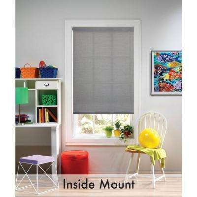 Gray Blackout Cordless Fabric Thermal Blocking Roller Shade - 28.5 in. W x 72 in. L