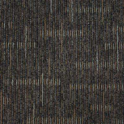 Simply Comfort Silver Taupe Loop 19.7 in. x 19.7 in. Carpet Tile (20 Tiles/Case)