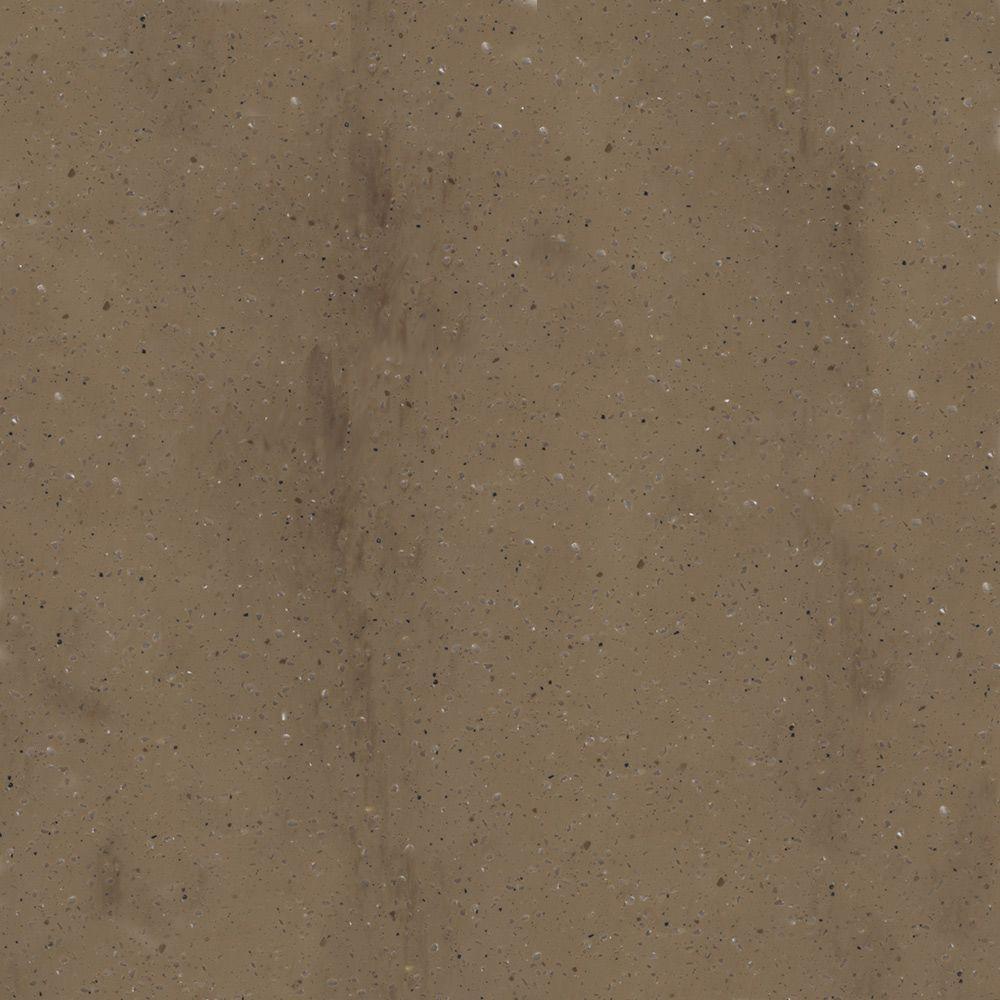 4 in. x 4 in. Solid Surface Vanity Top Sample in Khaki Coda
