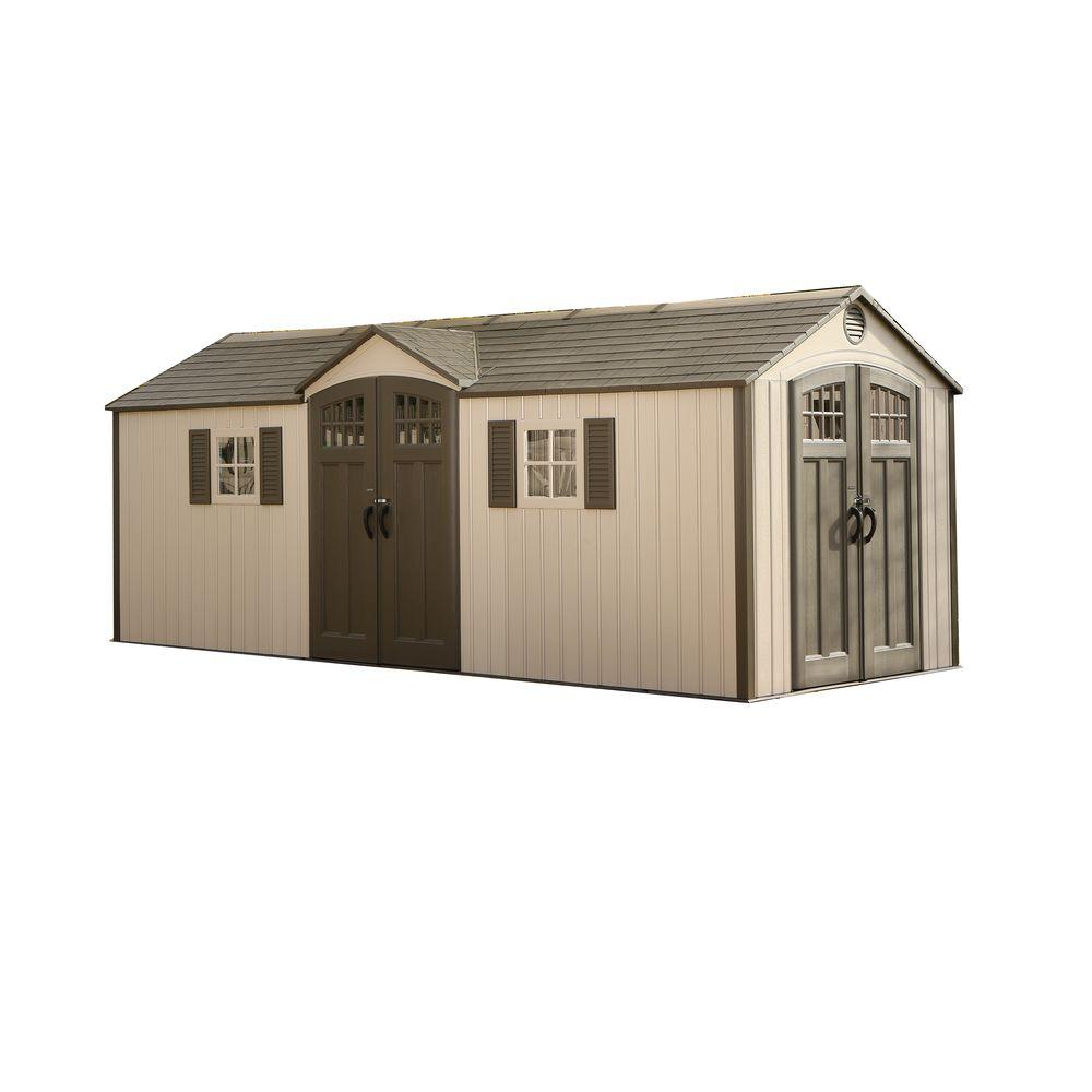 Lifetime 20 ft. x 8 ft. Garden Building Plastic Shed-60127 - The ...