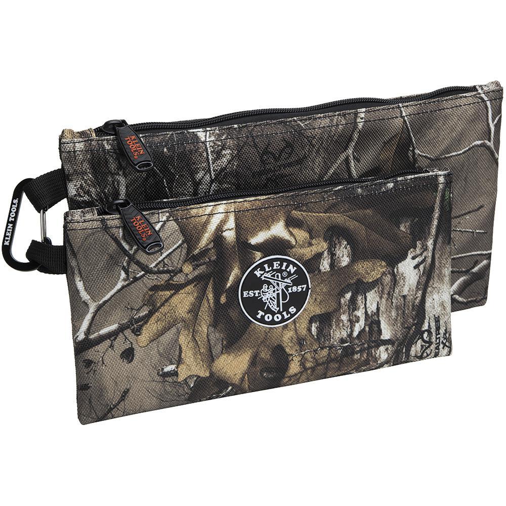 10 in. Camo Zipper Tool Bag, 2-Pack