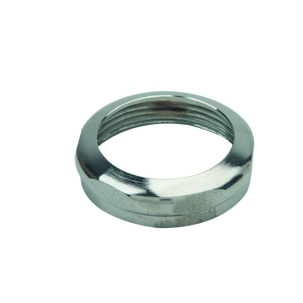 Brasscraft 1-1/2 inch O.D. Compression x 1-1/2 inch FIP Brass Slip Nut in Chrome by BrassCraft
