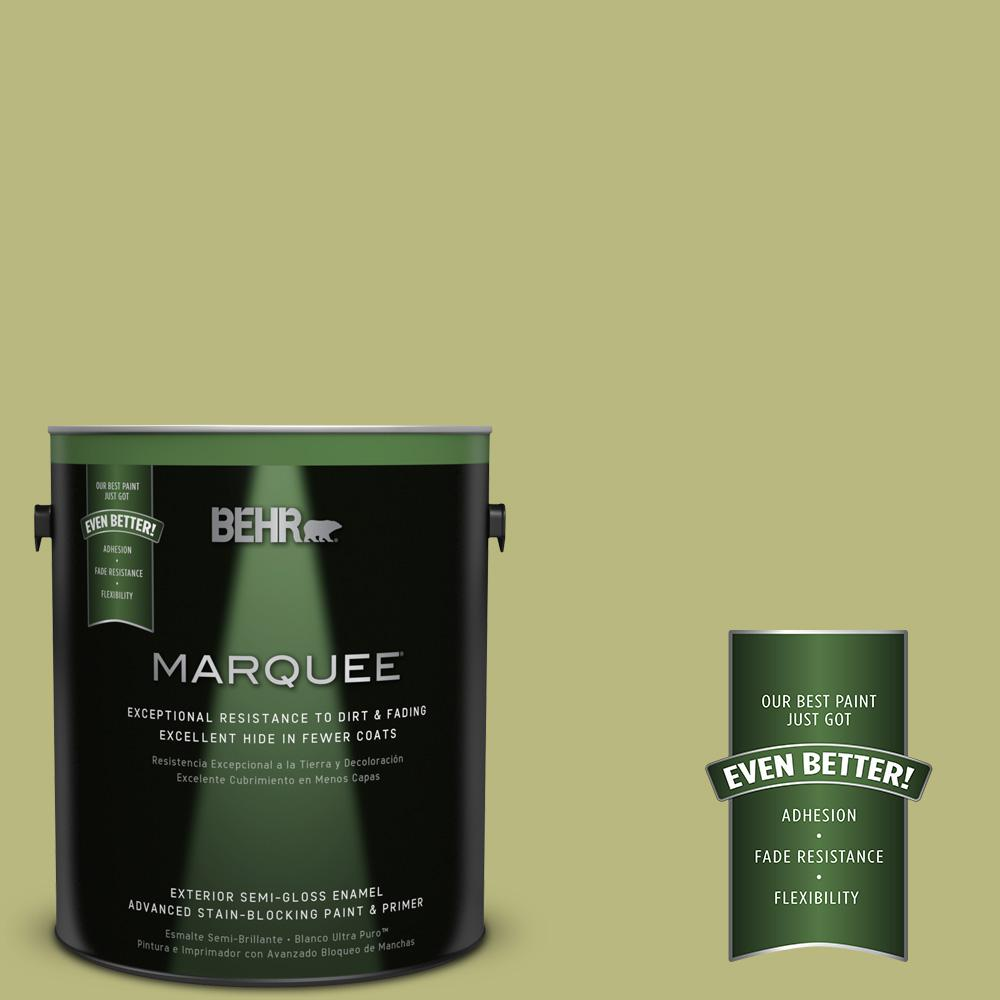 BEHR MARQUEE 1-gal. #400D-5 Grass Cloth Semi-Gloss Enamel Exterior Paint