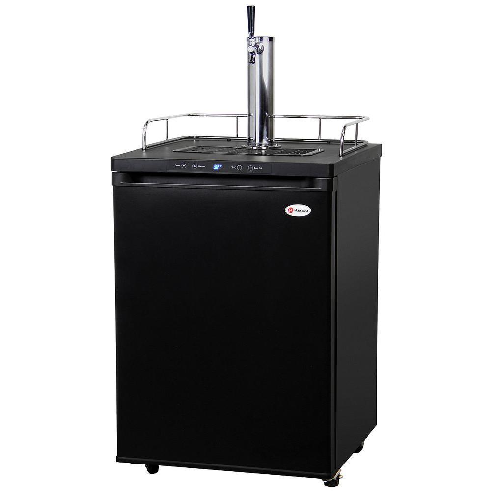 Kegco Full Size Digital Beer Keg Dispenser With Single Tap, Matte Black
