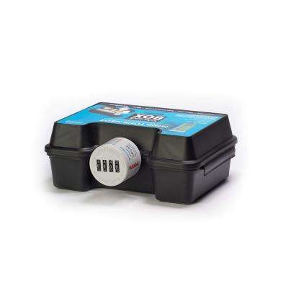 Medicine Box Safe with Combination Lock Cap in Black