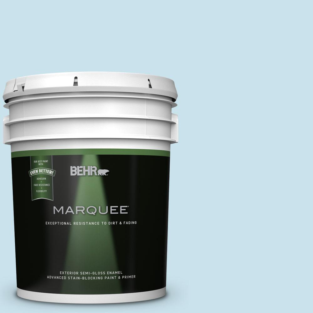 BEHR MARQUEE 5-gal. #PPL-24 Endless Sky Semi-Gloss Enamel Exterior Paint