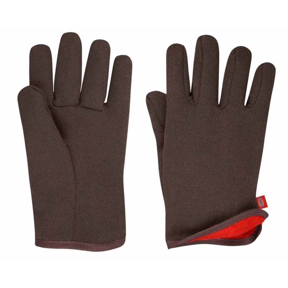 Dickies Red Fleece-Lined Brown Jersey Glove