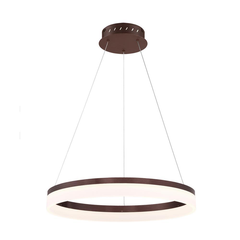 Minuta Collection 26-Watt Bronze Integrated LED Chandelier