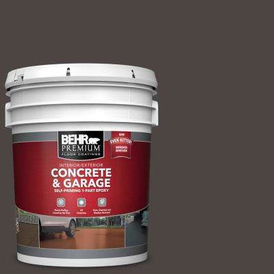 5 gal. #SC-104 Cordovan Brown Self-Priming 1-Part Epoxy Satin Interior/Exterior Concrete and Garage Floor Paint