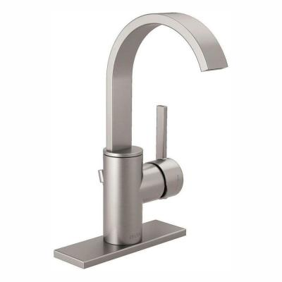 Mandolin Single Hole Single-Handle Bathroom Faucet in SpotShield Brushed Nickel