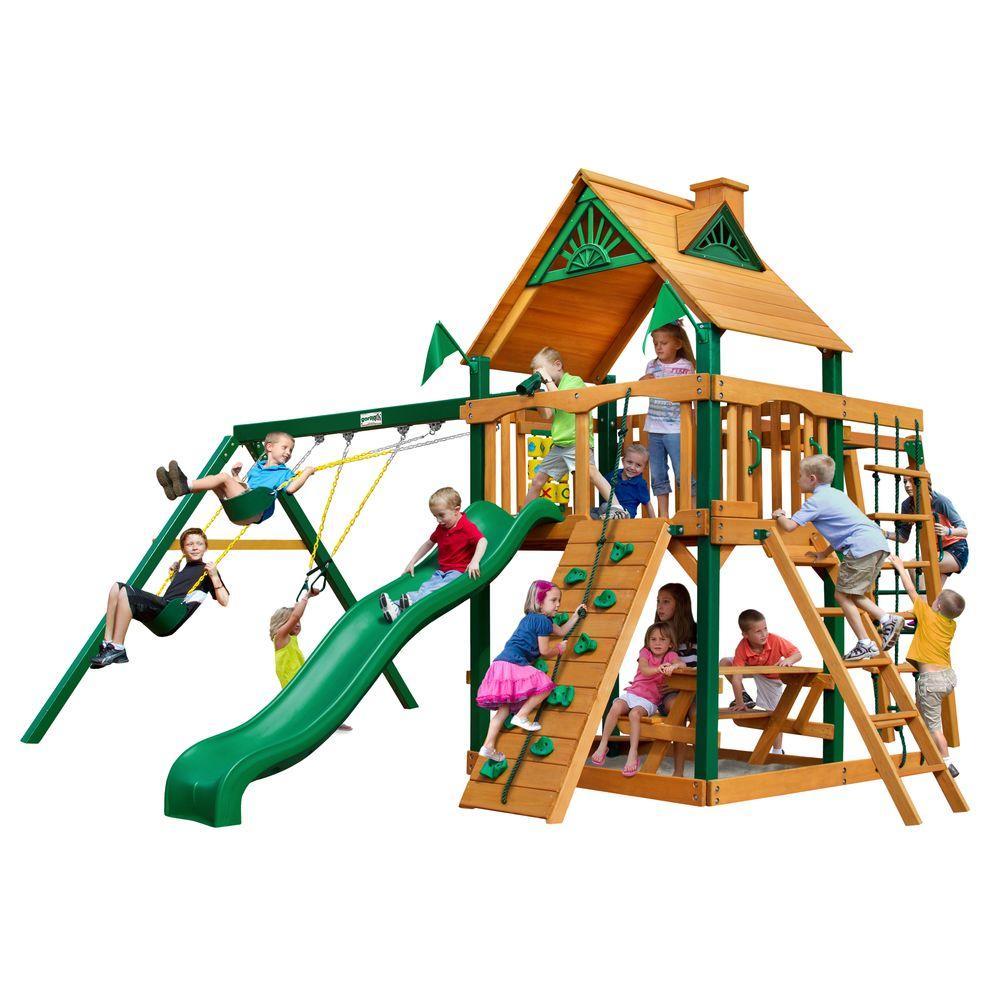 Gorilla Playsets Navigator Cedar Swing Set with