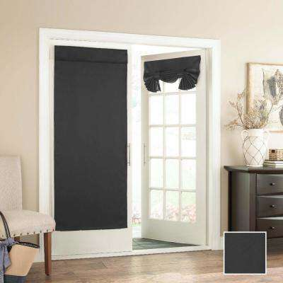 Tricia 68 in. L Polyester Rod Pocket Panel in Black (1-Pack)
