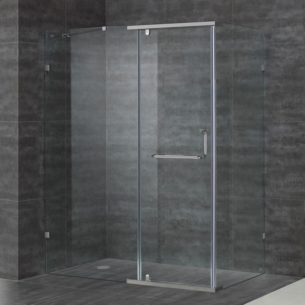 SEN975 60 in. x 35 in. x 75 in. Semi-Framed Shower