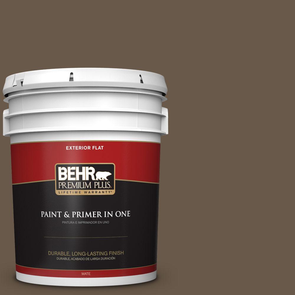 5 gal. #PPU7-25 Clove Brown Flat Exterior Paint