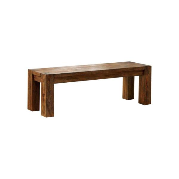 Frontier Brown Transitional Style Bench