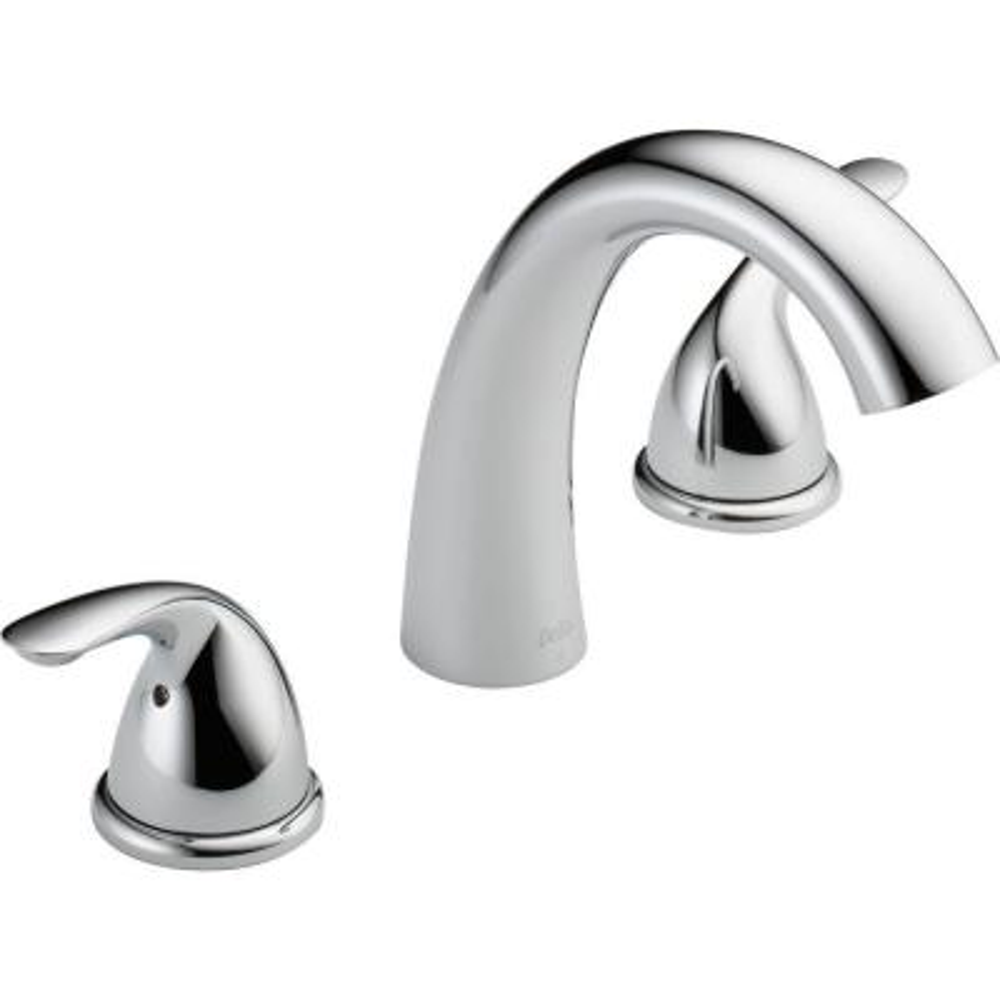 Classic 2-Handle Deck-Mount Roman Tub Faucet Trim Kit in Chrome (Valve Not Included)
