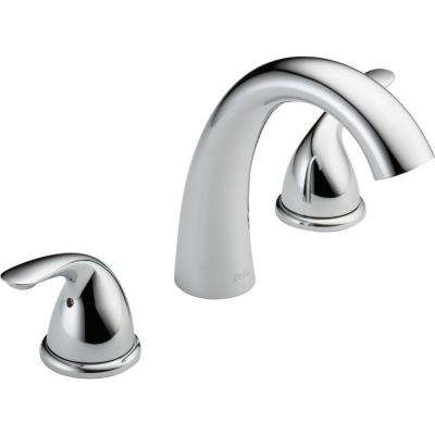 Classic 2-Handle Deck-Mount Roman Tub Faucet Trim Kit in Chrome (Valve Not Included)