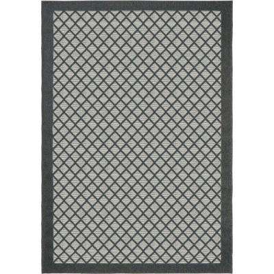 Across the Pier Gray 5 ft. x 8 ft. Indoor/Outdoor Area Rug