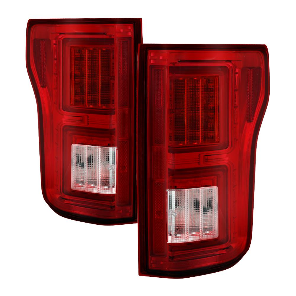 Ford F150 2017 Light Bar Led Tail Lights Not Compatible With Rear Blind Spot Sensor Models Red Clear
