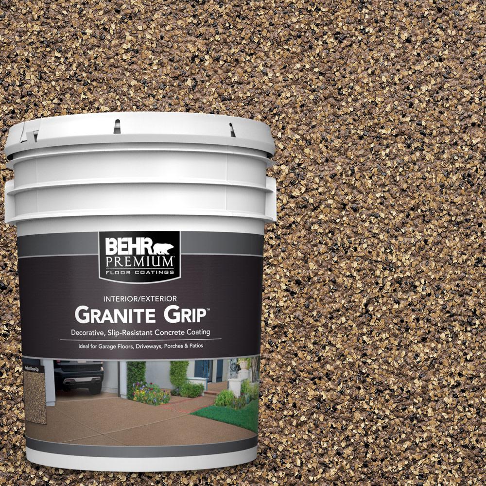 BEHR PREMIUM 5 Gal. #GG-16 Baltic Stone Decorative Flat Interior/Exterior Concrete Floor Coating