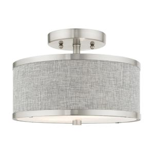 Park Ridge 2 Light Brushed Nickel Semi Flush Mount
