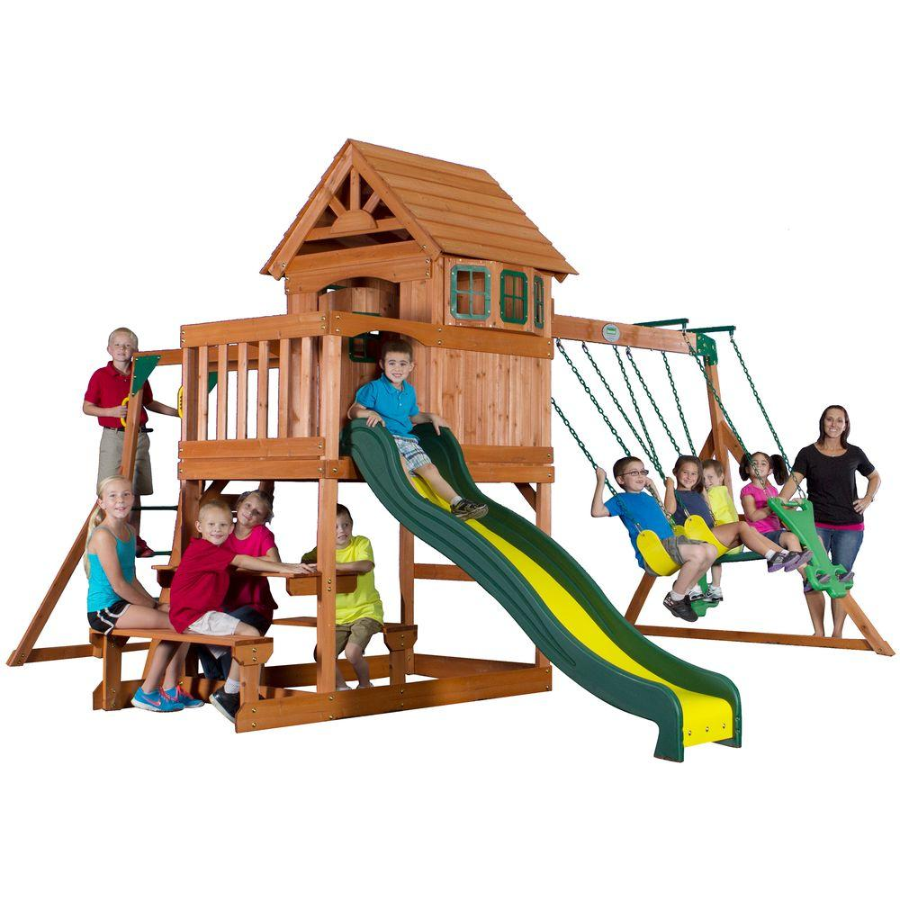 backyard discovery springboro all cedar playset 40014com the