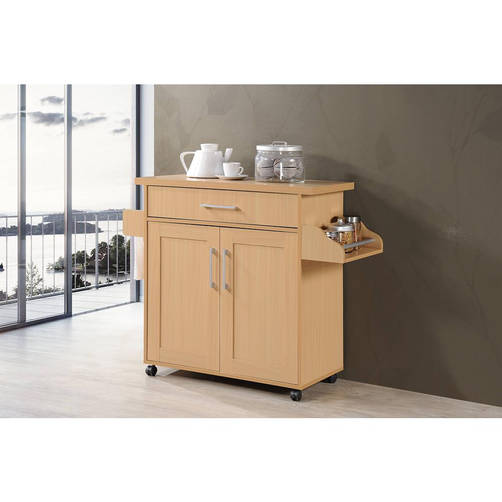 Pleasing Details About Rolling Kitchen Island Beech Cabinet Storage Counter Spice Rack Towel Holder Bar Download Free Architecture Designs Embacsunscenecom