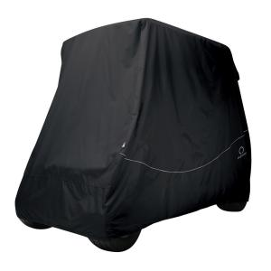 Classic Accessories Fairway Long Roof Golf Car Quick-Fit Cover Black by Classic Accessories