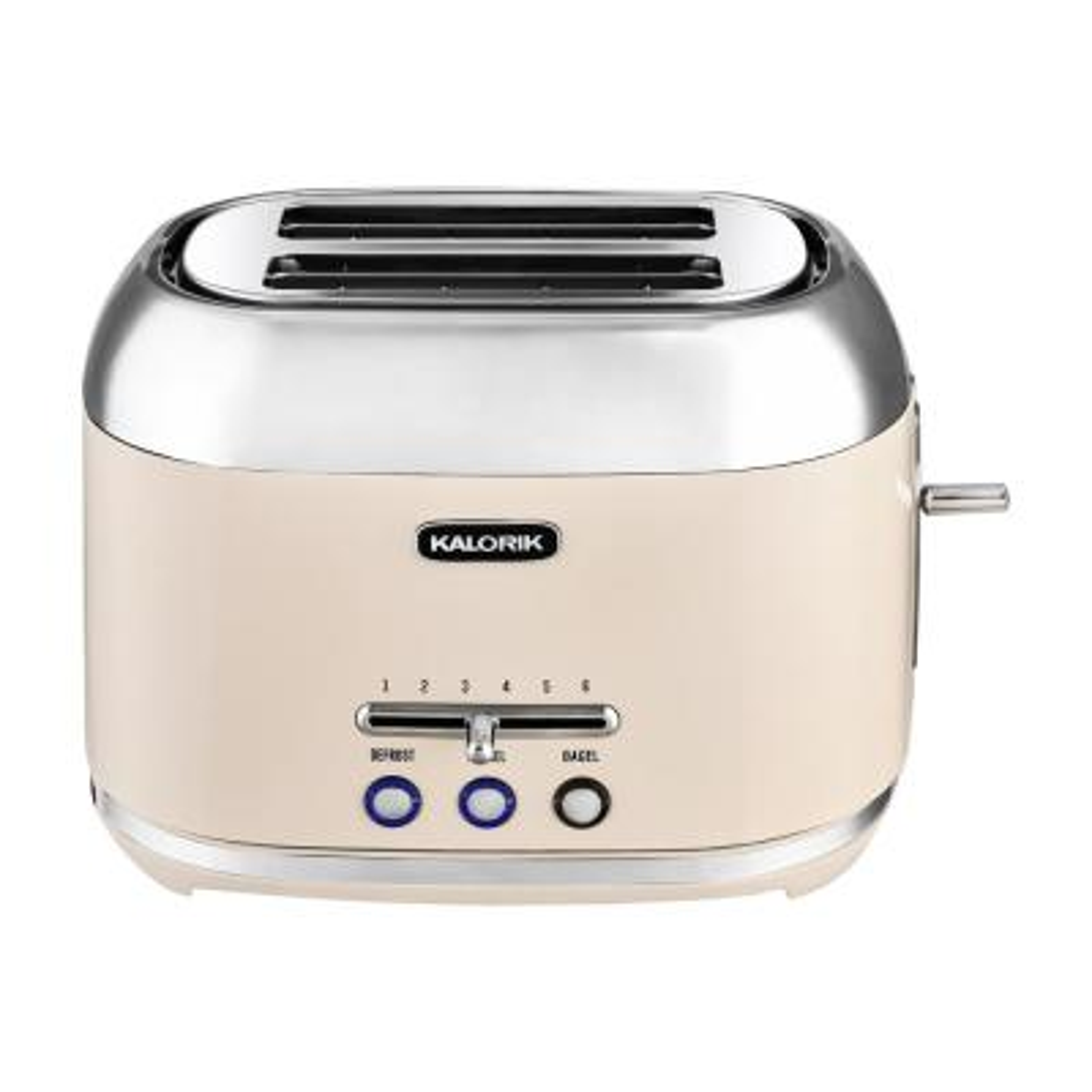 Retro 2-Slice Cream Wide Slot Toaster