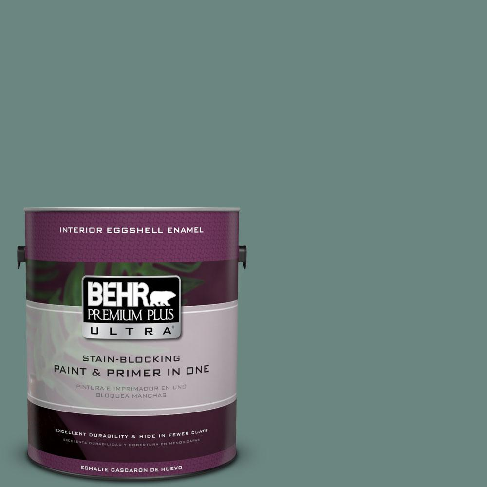 BEHR Premium Plus Ultra 1-gal. #480F-5 Marsh Creek Eggshell Enamel Interior Paint