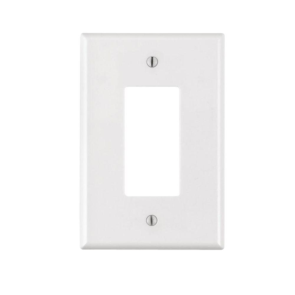 White Wall Switch Plates Leviton Decora 1Gang Jumbo Wall Plate Ivoryr518660100I  The