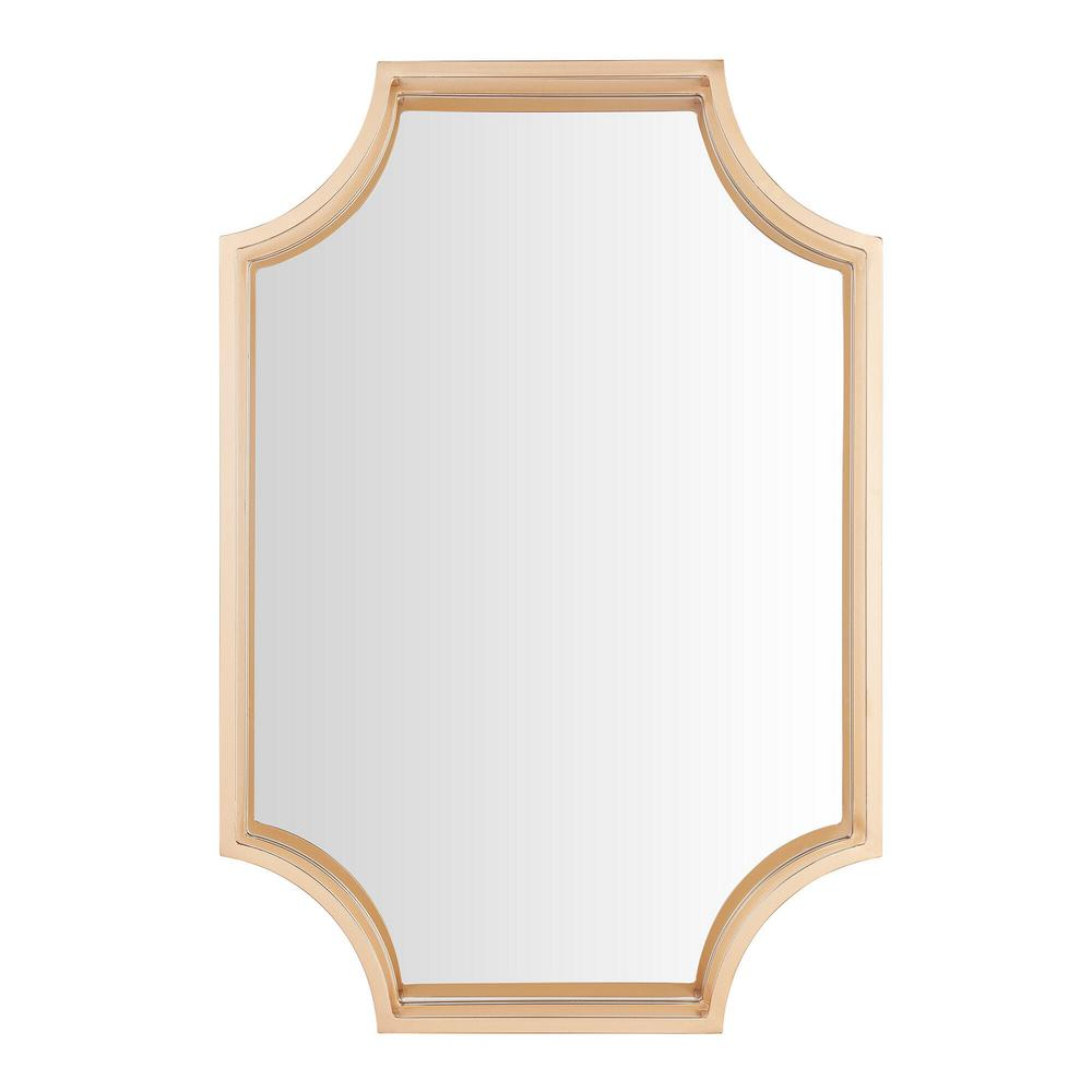 StyleWell Medium Rectangle Gold Dimensional Classic Accent Mirror (30 in. H x 20 in. W) was $109.0 now $46.3 (58.0% off)