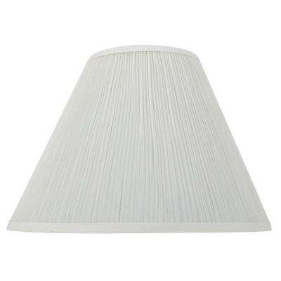 Mix and Match 17 in. Dia x 12.5 in. H Eggshell Pleat Empire Table Lamp Shade