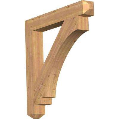 5.5 in. x 44 in. x 44 in. Western Red Cedar Imperial Craftsman Smooth Bracket